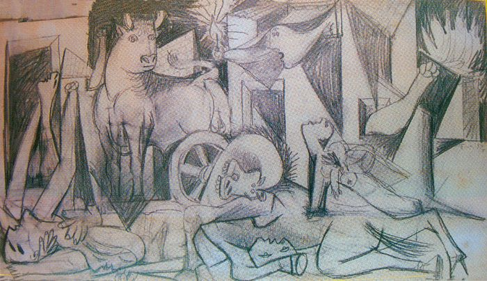 "Picasso and Spanish Modernity – ""Guernica"" Composition Study (VII), May 09th 1937"