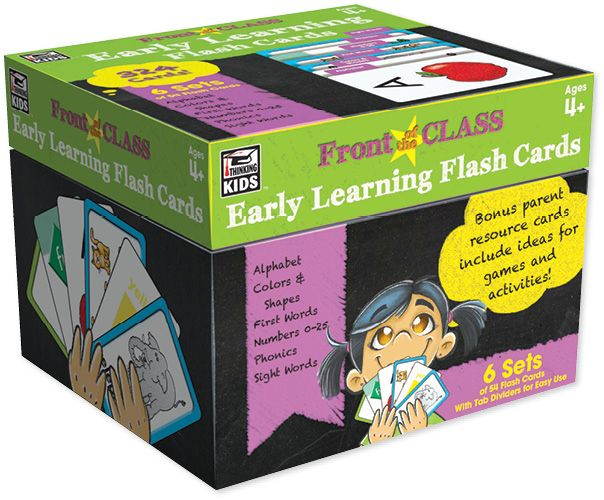 This set contains flash cards that provide focused practise on the alphabet, colours and shapes, first words, numbers, phonics, and sight words. Find the Early Learning Flash Cards in the Classroom Essentials Catalogue: OPUS 3181112 Page 55 See the pages here: http://scholastic.ca/clubs/cec/