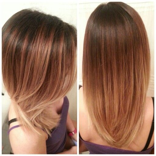 Blended ombre from dark brown to pale blonde! Schwarzkopf ...