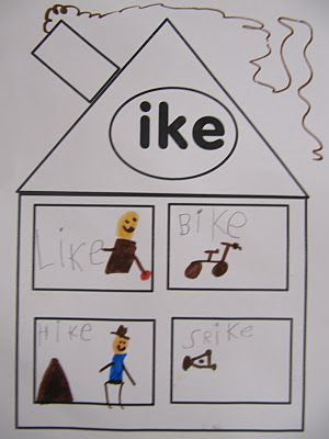 "Word Family Practice using word family ""houses"" they can even draw pictures"