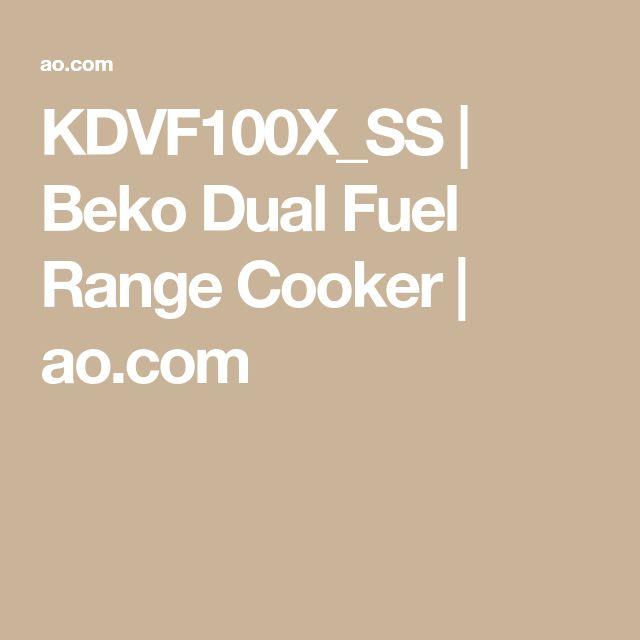 KDVF100X_SS | Beko Dual Fuel Range Cooker | ao.com