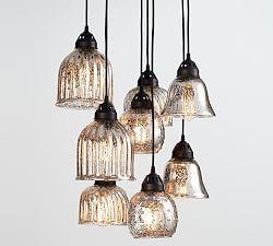 Mercury glass chandelier \   Pottery Barn