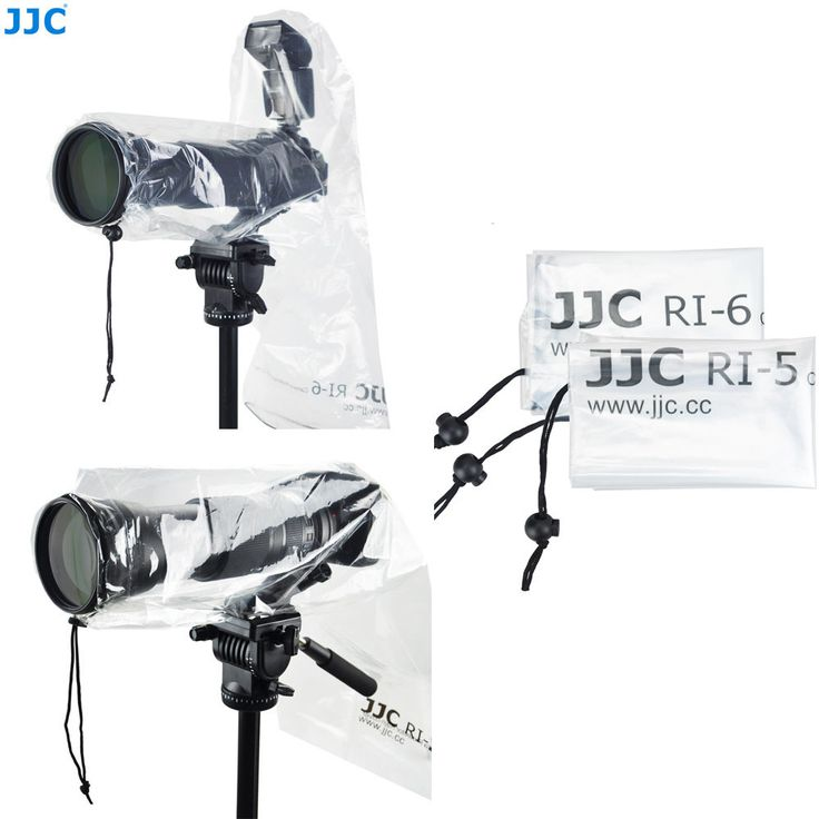JJC 2 PACK SET OF WATERPROOF RAIN COVER PROTECTOR FOR Canon Nikon DSLR CAMERA #JJC