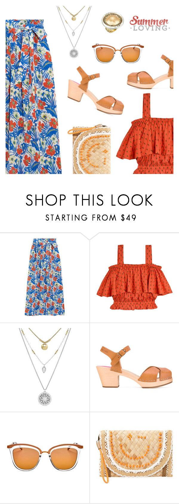 """Summer Look"" by dressedbyrose ❤ liked on Polyvore featuring Etro, Samantha Pleet, Lucky Brand, Swedish Hasbeens, Le Specs, Anya Hindmarch, House of Harlow 1960, Summer and polyvoreeditorial"