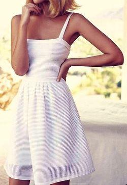 White, sheer overlay, classic straight neckline, strapless dress