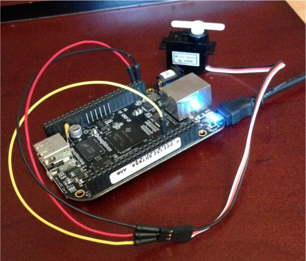 [Babak] created an in-depth tutorial on how he got his BeagleBone Black to control a servo from a web browser.  [Babak] configured a pin on his BeagleBone Black (BBB) as a PWM line and connected...