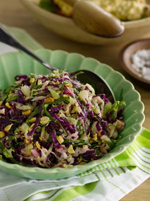 Cabbage and lime salad with roasted peanuts; from SIMPLE FRESH SOUTHERN :: find SC cabbage & peanuts @ certifiedscgrown.com