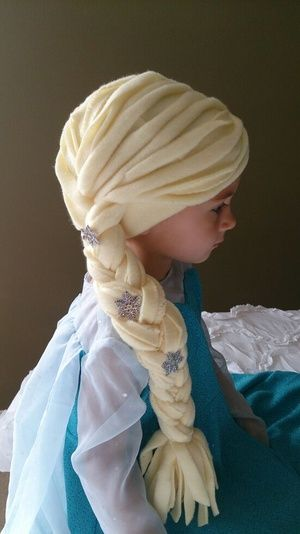 OfferUp - Elsa polar fleece beanie hat/wig. Child size. Fun, warm hat for winter or just for dress up. 15.00 ( Baby & Kids ) in Federal Way, WA