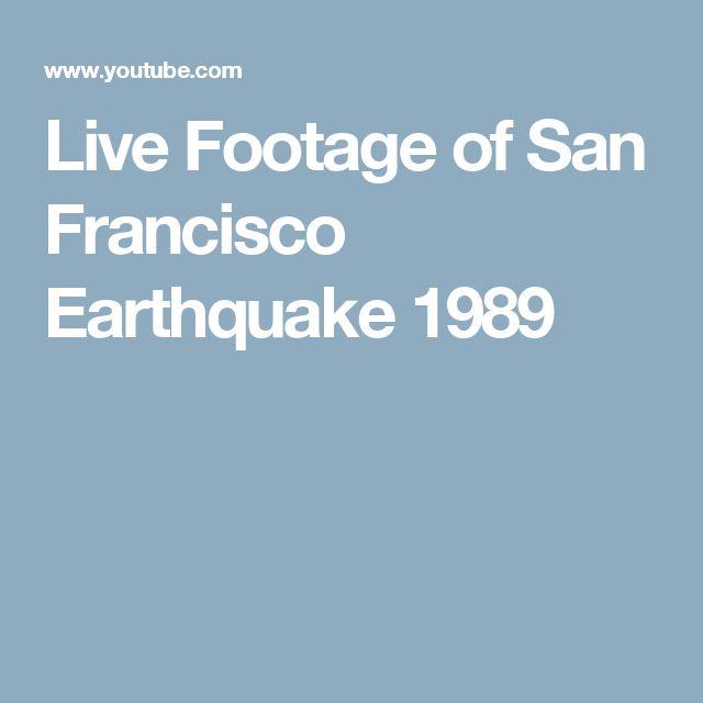 Live Footage of San Francisco Earthquake 1989