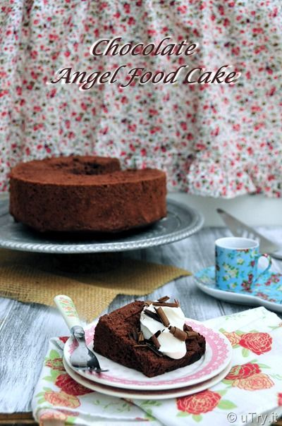 Chocolate Angel Food Cake (巧克力天使蛋糕): a low fat cake that ...