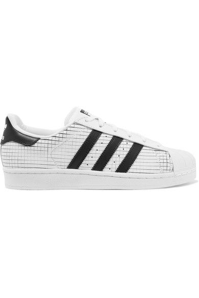 adidas Originals - Superstar Scored Leather Sneakers - White - US6.5