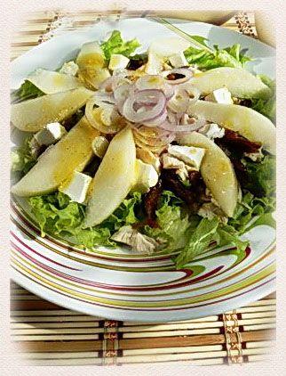 Салат с курицей, финиками и фетой : Простые рецепты для вкусной жизни