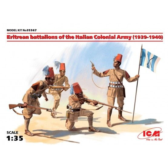 ICM 1/35 Eritrean battalions of the Italian Сolonial Army (1939-1940) (4 figures) # 35567