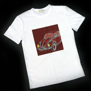 """VW Beetle printed T-Shirt. The Popular one of our """"Car illust printed t-shirt series"""". :^)"""