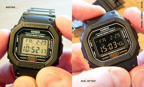 How to convert a plain DW-5600 LCD to a negative display - G-Shock Wiki   casio watch resources