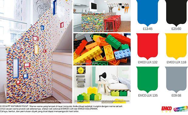 Lego, Dekorasi Warna-Warni nan Unik #BiasaJadiLuarBiasa http://matarampaint.com/detailNews.php?n=91