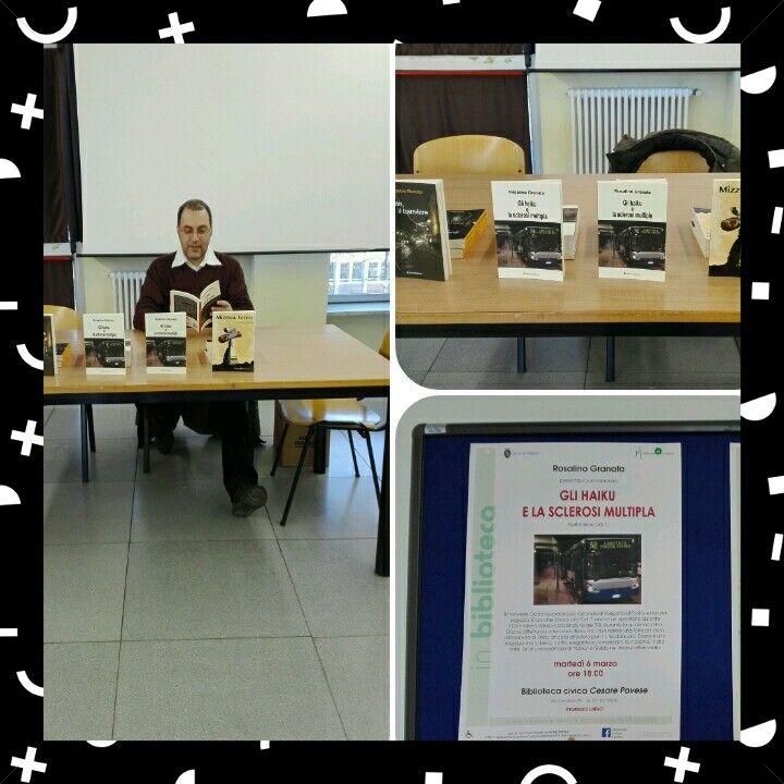 """Le foto della presentazione del mio nuovo romanzo #glihaikuelasclerosimultipla presso la biblioteca civica """"Cesare Pavese"""" di Torino. Ringrazio lo staff della biblioteca e tutti coloro che sono venuti e che hanno acquistato i miei libri. Alla prossima!"""