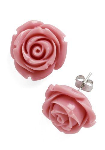 Retro Rosie Earrings in Dusty Rose, #ModCloth