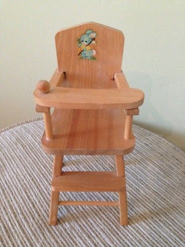 Vintage 1950's Strombecker Doll High Chair