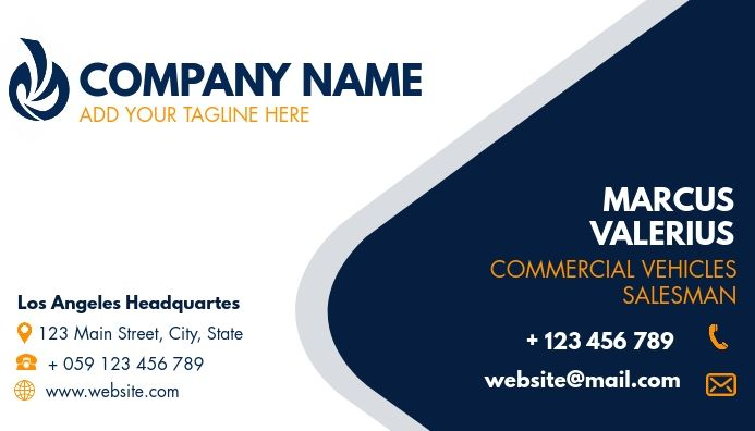 Simple Generic Business Card For Employees Business Card Template Design Corporate Business Card Design Employee Id Card