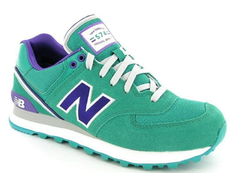 Mintgroene New Balance sneakers. Artikelnummer WL574S. €99,95 #sneakers #newbalance