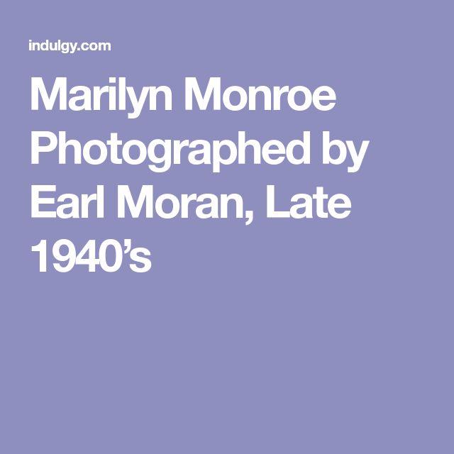 Marilyn Monroe Photographed by Earl Moran, Late 1940's