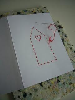kaarten maken met priknaald en borduurgaren