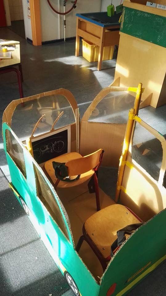 PROP: Cardboard Bus (inside view)