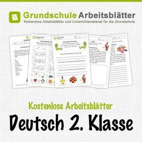 Kostenlose Arbeitsblätter und Unterrichtsmaterial für den Deutsch in der 2. Klasse in der Grundschule.