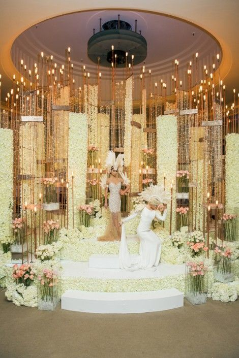 Beautiful Winter palace installation by Flowers Tme with the Famous Russian designer @mariakamenskaya for the Wedluxe #flowers#toronto#wedding#pink#white#color