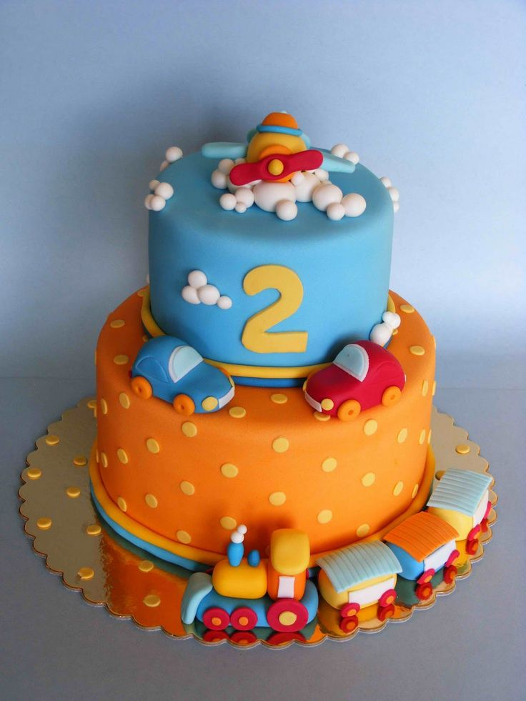 Image result for 2ND BIRTHDAY BOY CAKE