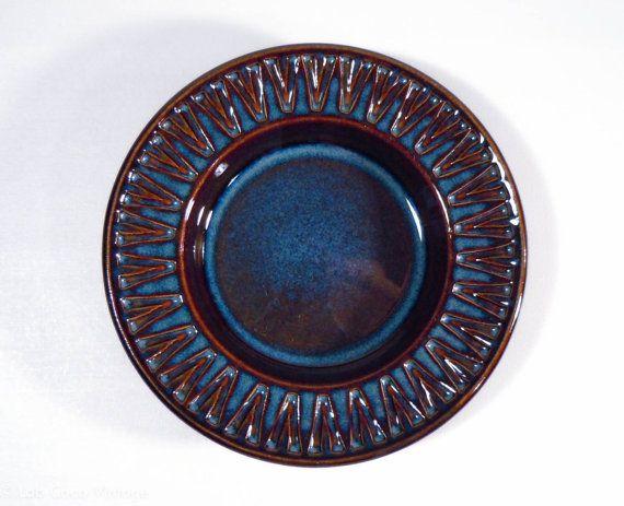 Click to see more photos! Lovely blue Søholm Denmark ceramic tray - design by Einar Johansen, no. 3184/2