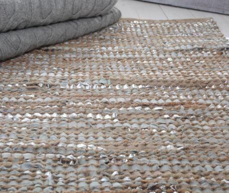 Leather and Jute Rugs at LUMA Organic Home Luxury