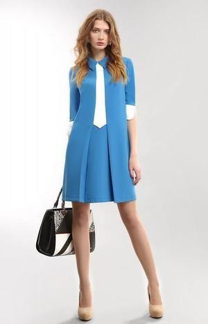 стильное нарядное классическое платье РАСПРОДАЖА  Длина по спинке 88 см | Женские костюмы