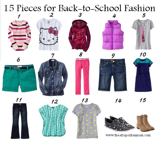 15 pieces for back to school fashion for kids