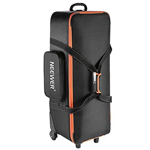 Neewer Photo Studio Equipment Trolley Carry Bag 38x15x1196x39x29cm with Straps Padded Compartment Wheel Handle for Light Stand Tripod Strobe Light Umbrella Photo Studio and Other Accessories * You can find out more details at the link of the image.