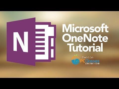 Microsoft OneNote Tutorial - YouTube