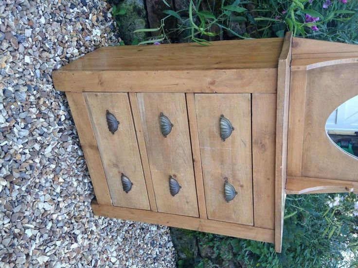 Victorian+Country+Pine+Dressing+Table+Chest+Of+Drawers++for+sale