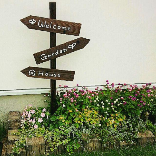 yukko1661さんの、ガーデンサイン,ガーデンピック,DIY,庭,花壇,ガーデニング,ガーデン,アンティーク,花壇…