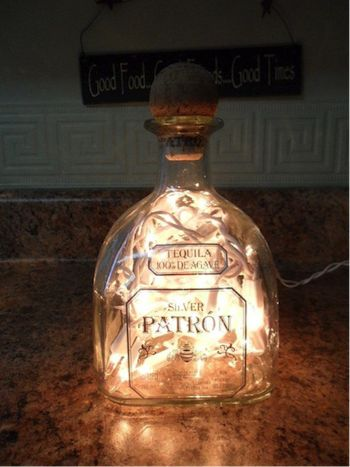 10 Things To Do With A Leftover Liquor Bottle | Her Campus #BottleLamp