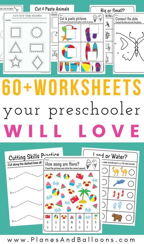 200+ Free preschool worksheets in PDF format to print