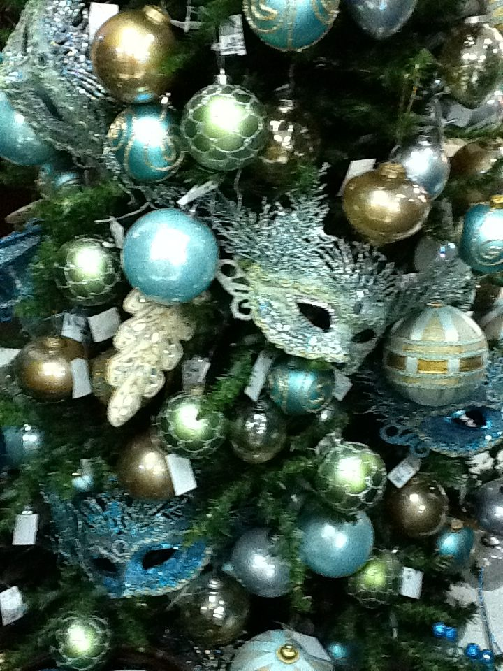 Christmas Tree Decorations Blue And Silver