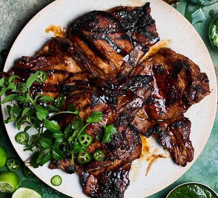 16 best best pork chop recipes images on pinterest pork chop soy basted pork chops with herbs and jalapeos forumfinder Choice Image