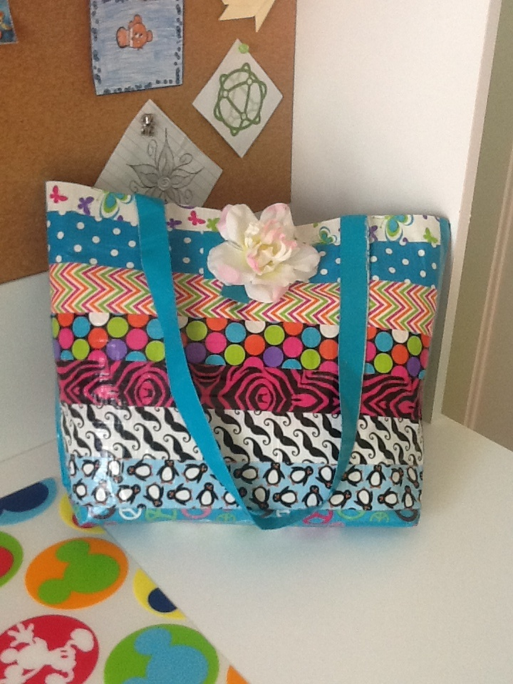 Diy Duct Tape Tote Craft Ideas Pinterest Diy And