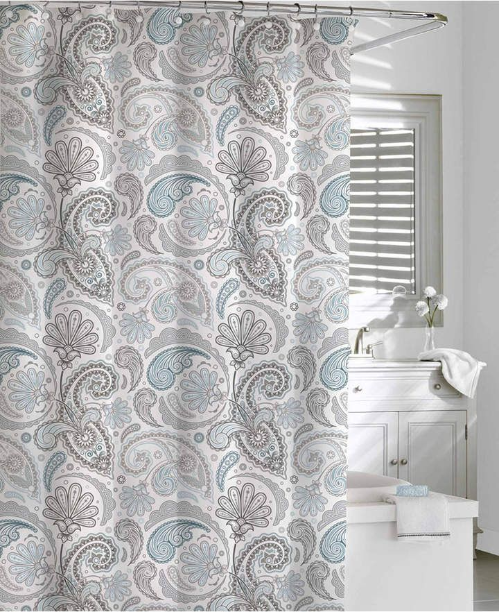 Cassadecor Cotton Printed Floral Swirls Shower Curtain Reviews