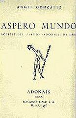 """Su primer libro """"Áspero Mundo"""""""