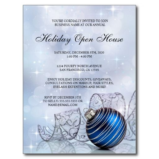 44 best Holiday Open House Invitations images on Pinterest Open - invitation flyer template