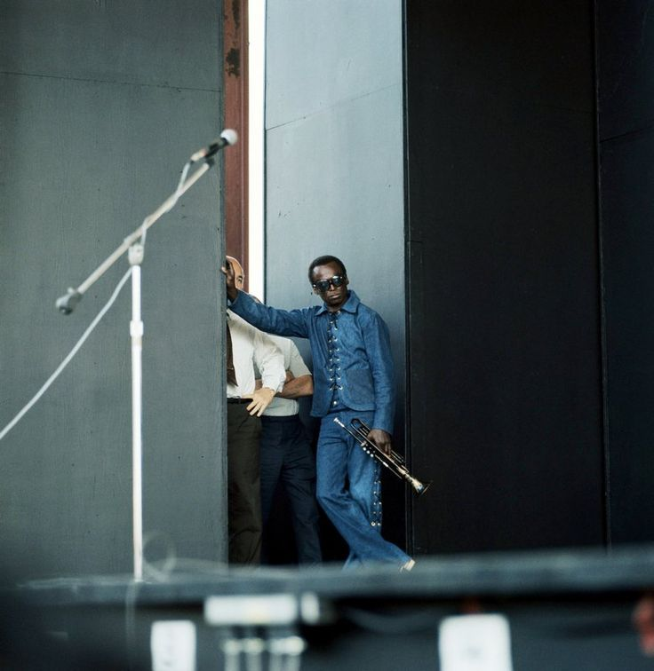 "steroge: "" Miles Davis at the Newport Jazz Festival in 1969; Photo by David Redfern """