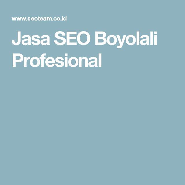 Jasa SEO Boyolali Profesional