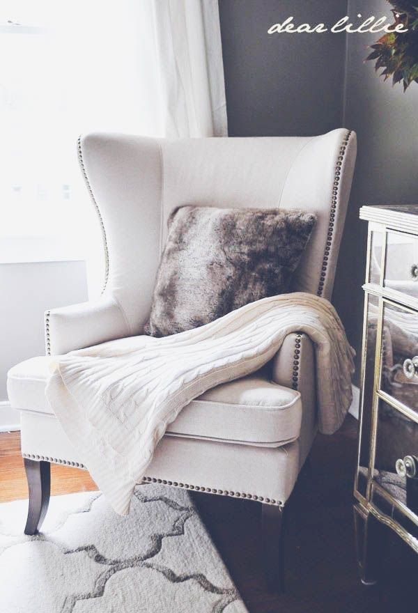 10 Ways To Make Your Living Room Extra Glam. Wing ChairThe ChairBedroom ...